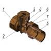 Кран радиаторный настроечный нижний угловой КРНу Ду 20 Ру16