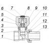 Кран радиаторный регулирующий угловой КРРу Ду 20 Ру 16