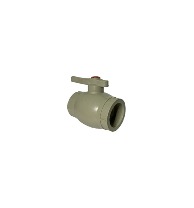 Кран шаровой полипропиленовый серый PN 2.5 DN50
