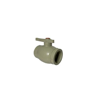 Кран шаровой полипропиленовый серый PN 2.5 DN40