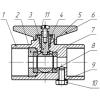Кран шаровой трёхходовой для манометра со спуском Вода 11б27п(м) Ду15Ру16