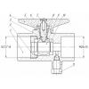 Кран шаровый трёхходовой для манометра с краном Маевского 11б27п(м)1 Ру16 Ду15 G1/2xM20x1,5