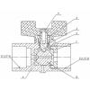 Кран шаровый для манометра с дренажным отверстием 11б27п(О)01 ДУ 15 G1/2хМ20х1,5