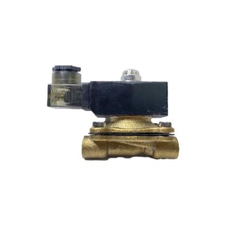 Клапан электромагнитный латунный двухходовой нормально закрытый КЭМ(нз) Ду 15 Ру 16
