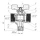 Кран шаровой для подключения датчика температуры 11б27п(т)