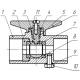 Кран шаровой трёхходовой для манометра со спуском Вода 11б27пМ